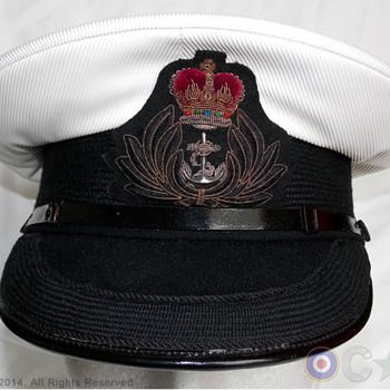 Royal Navy Chaplain's visor cap