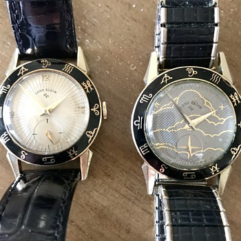 vintage Elgin Zodiac day and night watches - Wristwatches