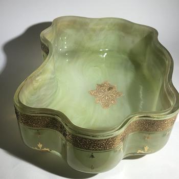 Rare Early Loetz Green Onyx Dek I/358 C1890 - Art Glass