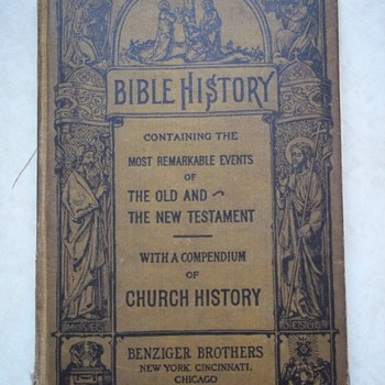 Grandmother's bible history book from school - Books