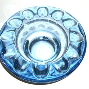 1962 CZECH Art Glass Ashtrays -- TWO - Art Glass