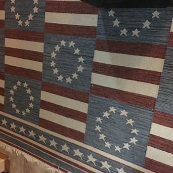12 star Americana rug