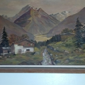 Oil Painting Europe alps - Fine Art