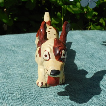 Vintage Pottery Grindley Ware  Sebring, Ohio 1930's Running Dog Figurine! :^D - Animals