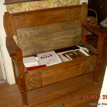 Antique Loveseat/Bench - Furniture