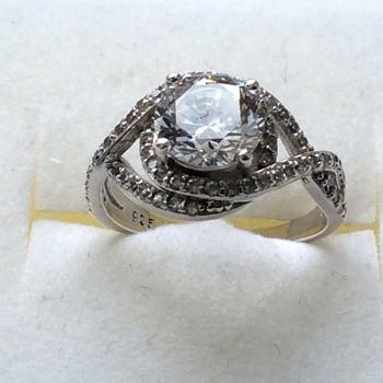 vintage 925 split shank ring - Fine Jewelry