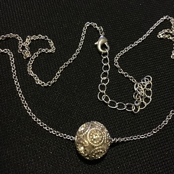 Silver necklace pendant  - Silver