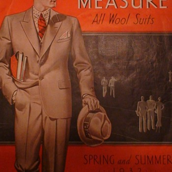 """Montgomery Ward """"Made To Measure All Wool Suits"""" 1932"""