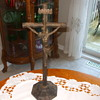 Antique  Solid Cast Iron French ALTAR CRUCIFIX- Any Ideas