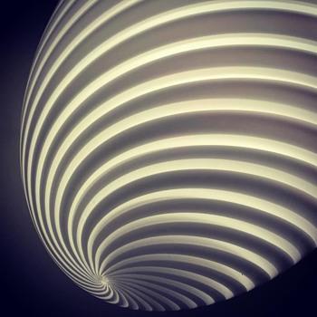 egg shaped lamp - Art Glass