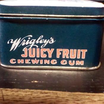 Juicy Fruit Tin - Advertising