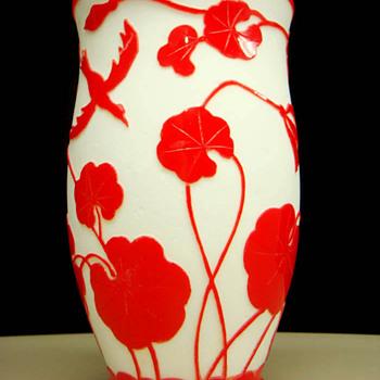 Kralik - Cameo Styles #7 - Peking style  - Art Glass