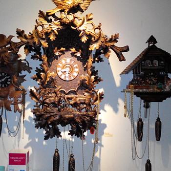 antique black forest clock - Clocks