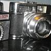 Three Film Cameras Vintage retro designs found this afternoon in Carmarthen, West Wales UK