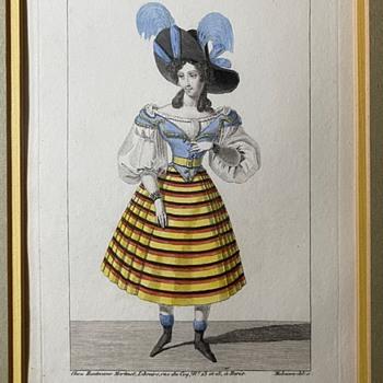 """""""Petite Galerie Dramatique, ou Recueil de différents Costumes d'Acteurs des Théâtres de la Capitale"""" - Posters and Prints"""