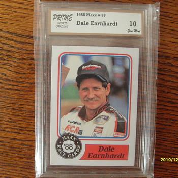 Dale Earnhardt Rookie Card 1988 Maxx#99