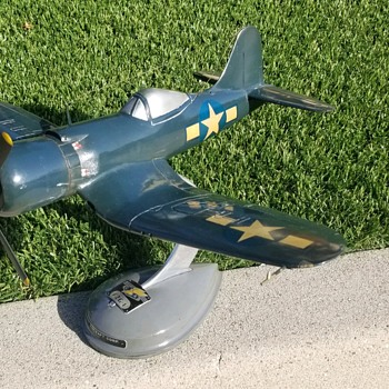 "Rare Original Topping Model of Goodyear F2G-1 ""Super Corsair""  - Advertising"