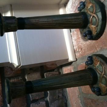 Weller candlesticks - Pottery