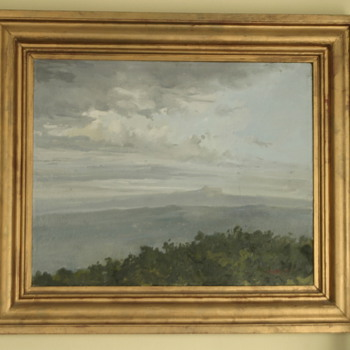 gorgeous impressionist oil painting of a seascape, signed but illegible!