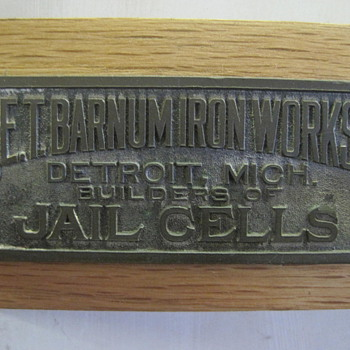Jail Cell Tag - Advertising