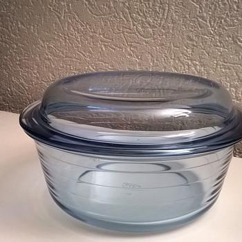 Crystal Blue Pyrex Casserole Bowl - Vintage? - Kitchen
