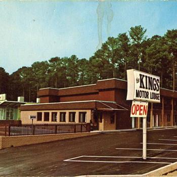 The Kings Motor Lodge Vintage Postcard, Columbia SC