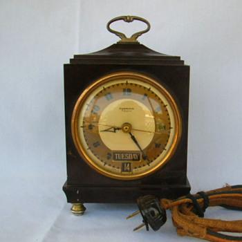 "Hammond Bichronous Art Deco Day Date Clock, ""Avondale"", 1931"