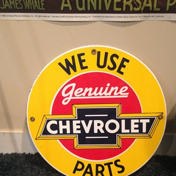 Vintage Chevrolet Parts Sign - Signs