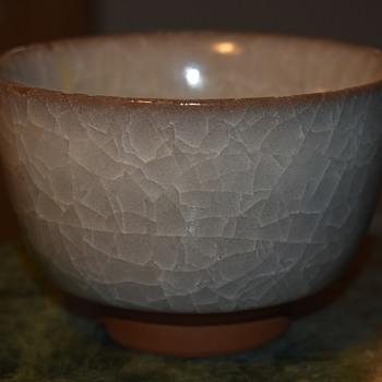 Ice Crackle Glaze on a Japanese Bowl - Pottery