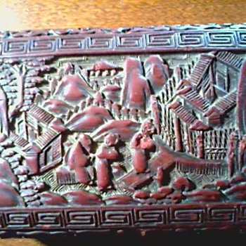 Cinnabar Lacquer Box / Da Qing Qianlong Nian Zhi Mark / 20th Century - Asian