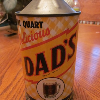 1940's DAD's Root Beer Can One Quart - Advertising