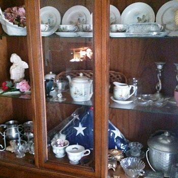 Cabinet full of mostly Occupied Japan items from the 1930's.  - China and Dinnerware