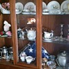 Cabinet full of mostly Occupied Japan items from the 1930's.