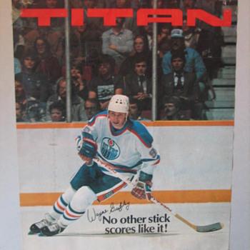 Vintage Gretzky Poster - Hockey