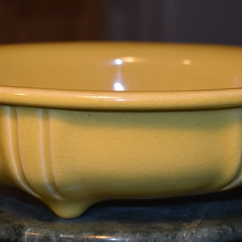 Very Heavy and Thick Yellow Console Bowl - Pottery