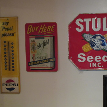 Advertising Signs Collected over the Years  - Advertising