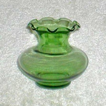 Anchor Hocking Green Glass Bud Vase - Glassware