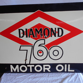 Diamond 760 flange sign - Petroliana