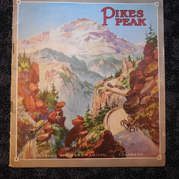 Antique Pikes Peak Highway and Railroad Booklet 1903 - Advertising