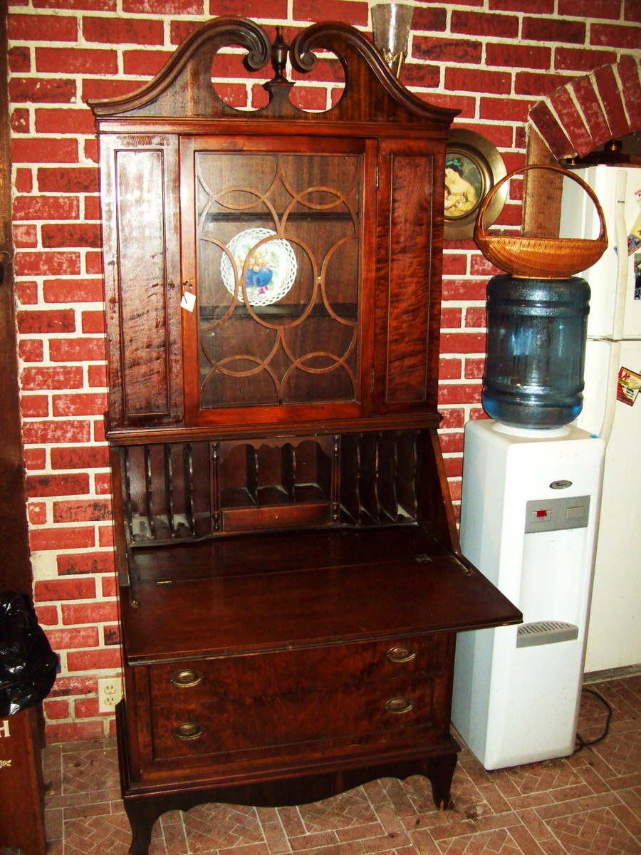 Antique Secretary Deskhutch By Union Furniture Co Rockford