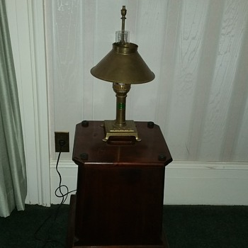 Vtg Paris Istanbul Brass Orient Express Table Lamp Claw Feet - Lamps