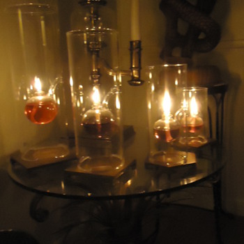 Beautiful handblown oil lamps, by Jon Wolfard and a good story! - Lamps
