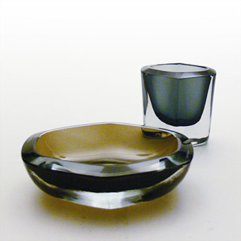 Strömbergshyttan ashtrays and cigarette cases - Art Glass