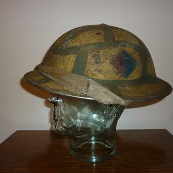 British WWII Malta Cammo steel helmet.  - Military and Wartime