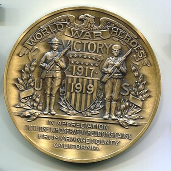 Orange County California Medal - Military and Wartime