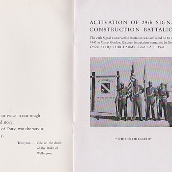 29th Signal Battalion Germany book - Military and Wartime