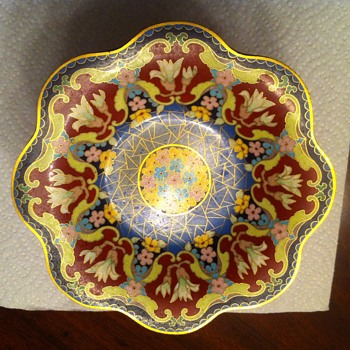 Pedestal Enameled Compote Candy Dish