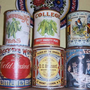 late 1800's / Early 1900's Food Tins - Advertising