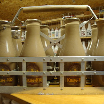 Krim-Ko Salesman Sample Milk Bottles............... - Bottles