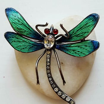 Antique Meyle and Mayer dragonfly brooch. - Fine Jewelry